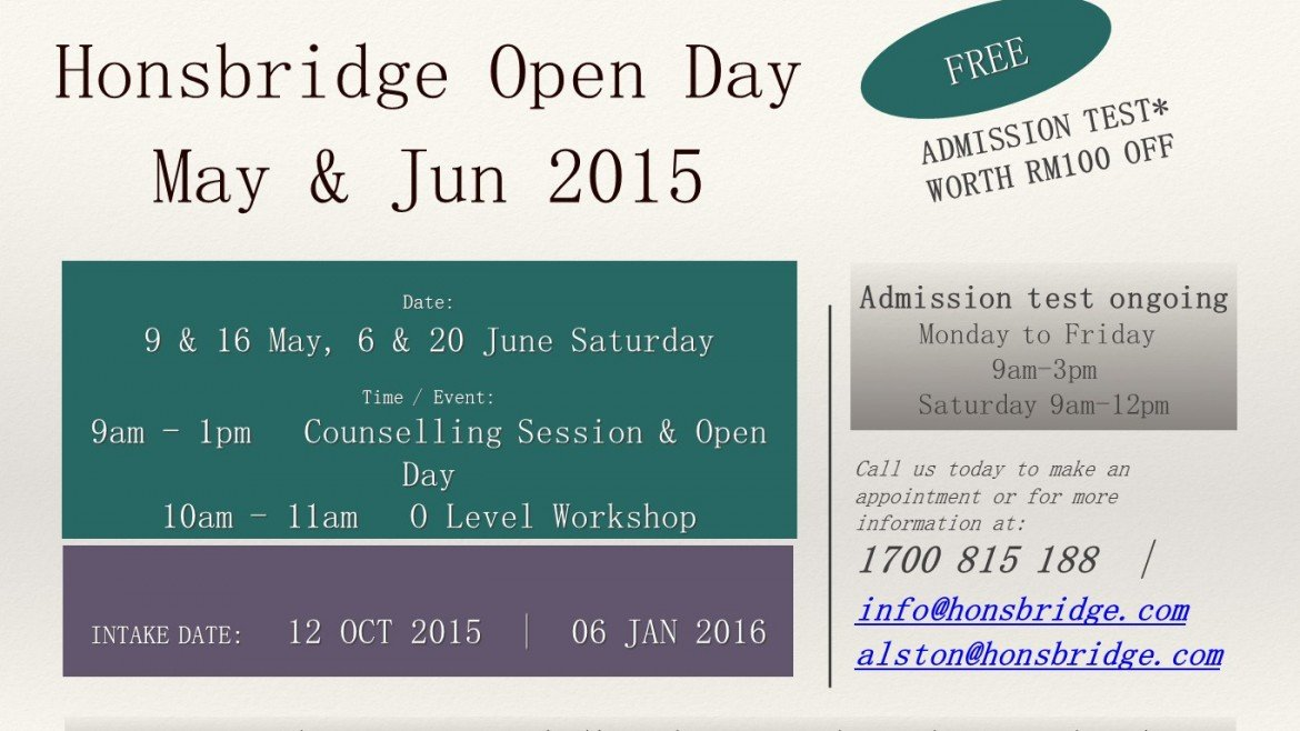 Flyer Open Day May 2015