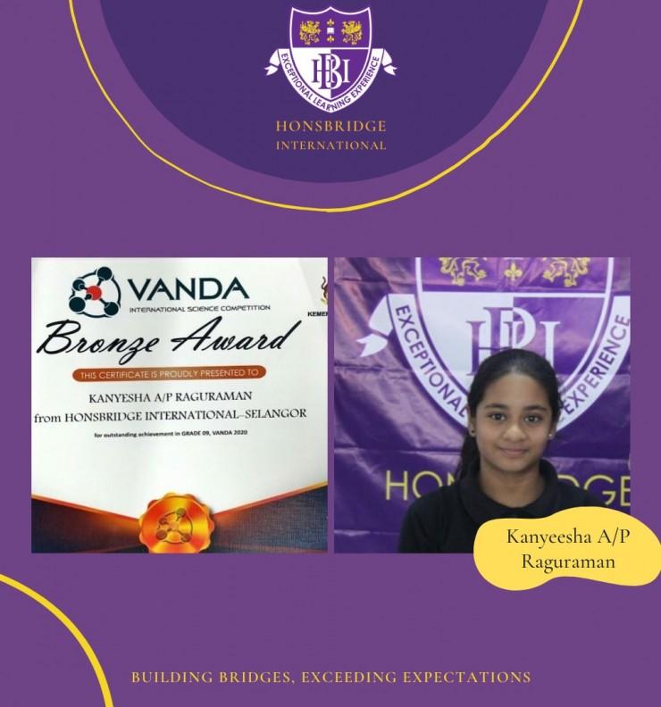 VANDA INTERNATIONAL SCIENCE COMPETITION 2020