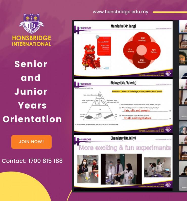 Senior and Junior Years Orientation